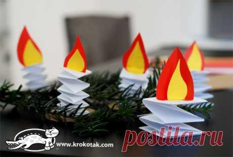 Бумажные свечи