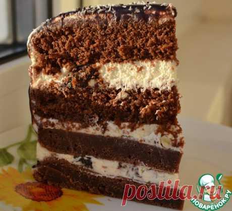 Шоколадный торт с черносливом - кулинарный рецепт