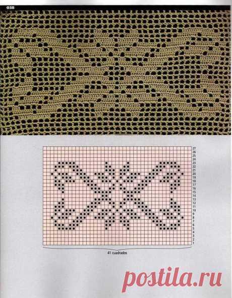 филейное вязание крючком КАЙМА - 4 444 картинки. Поиск Mail.Ru