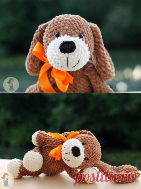 Описание вязания собачки крючком из плюшевой пряжи #вязанаяигрушка #игрушкикрючком #вязанаясобака #amigurumipattern #crochetpattern #amigurumidog #crochetdog