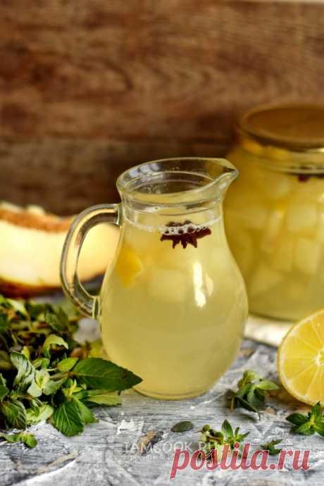 Компот из дыни и лимона — рецепт с фото пошагово