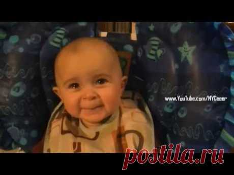 Baby's Emotional Reaction as Mom Sings Classic Song - YouTube