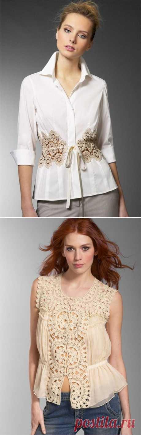 Новое старое - кружевные прошвы в одежде | РУКОДЕЛИЕ