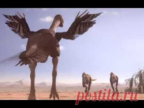 Oviraptorid fights to protect nest - Planet Dinosaur - BBC - YouTube