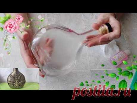 Берем пустую бутылку и делаем прекрасный подарок своими руками. DIY/рукоделие