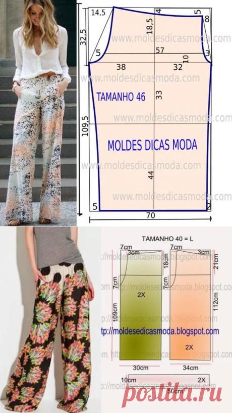 Простые выкройки женских брюк на лето