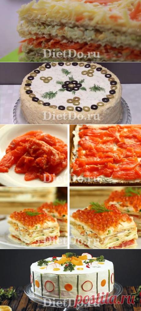 ТОП-7 Закусочный торт «Наполеон» из готовых коржей: рецепты с фото