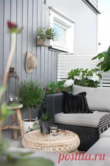 Уютный балкон в скандинавском стиле   Мой дом