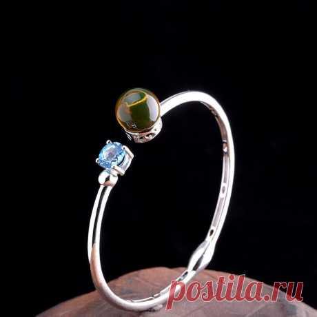 Blue topaz bracelet-925 Silver Bracelet-December | Etsy