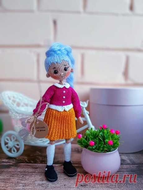 Куколка с синими волосами Часть 2 Автор Елена Несина другие игрушки  #кукла_МЗ #одежда_для_кукол_МЗ