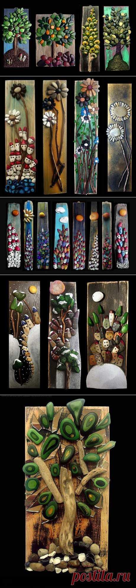 Потрясающие работы из камешков   СВОИМИ РУКАМИ