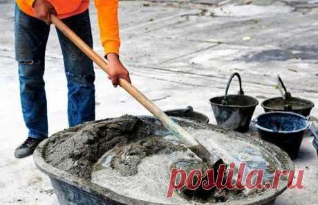 Как облегчить процесс замешивания бетона. Маленькая хитрость, проверенная временем | Блог строителя | Яндекс Дзен