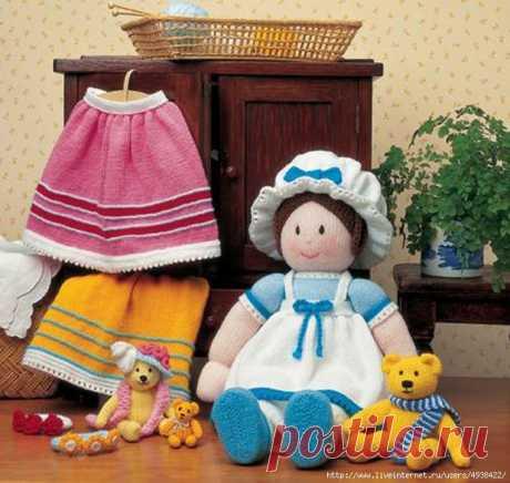 вязаная кукла (спицы)