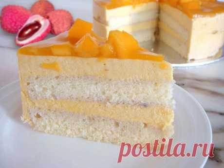 Торт манго личи рецепт с фото - 1000.menu