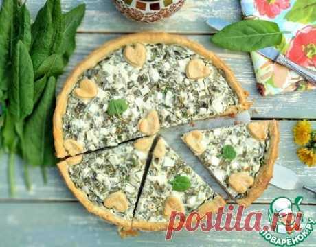 Открытый пирог с щавелем и рикоттой – кулинарный рецепт