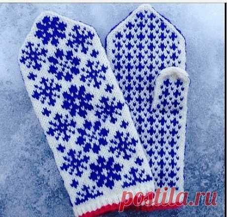 Снежинки для варежек и носков