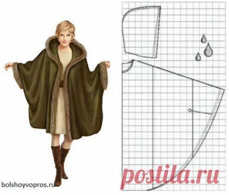 Впечатляющие модели пальто из одного куска ткани (Шитье и крой) – Журнал Вдохновение Рукодельницы