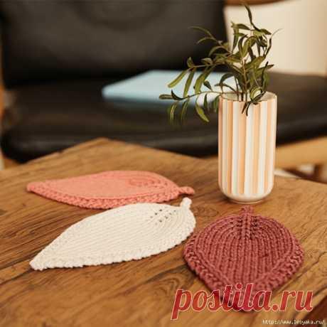 Стильные подставки под стаканы в форме листиков!