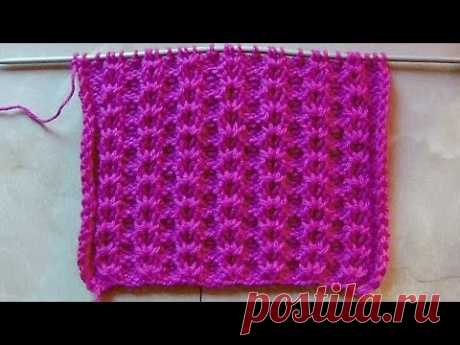 Openwork pattern Knitting by spokes Video lesson 189