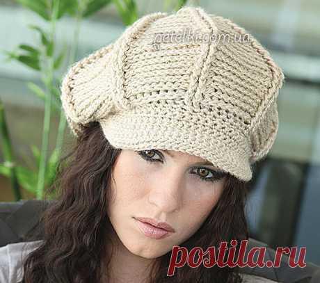 Вязаная женская кепка крючком. Описание, все схемы вязания