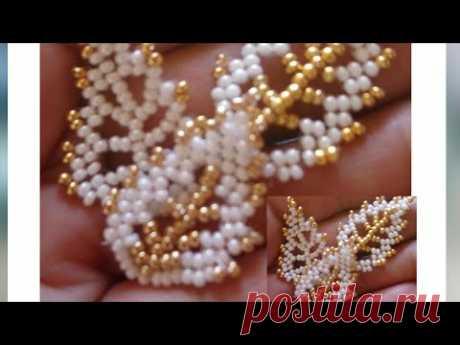 Yaprak  Yapımı 🍃( Peyote)  |  How to Make Leaf with Beads? (Peyote)