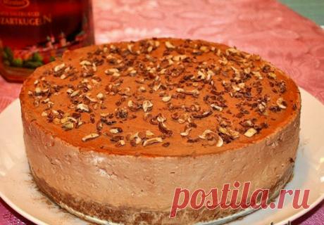 Торт-суфле шоколадно-творожный без выпечки - Типичный Кулинар