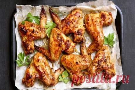 The baked chicken wings