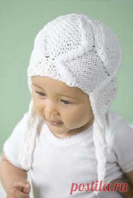 Детская шапочка с ушками | https://nitkoy.ru/