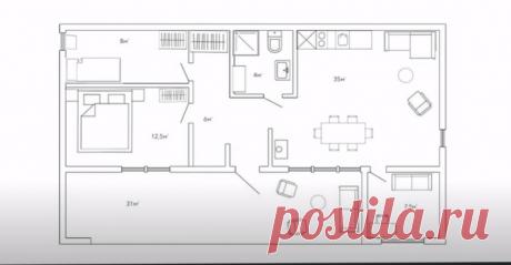 (303) Одноэтажный дом в современном стиле своими руками/Обзор дома и рум-тур/Дом в стиле минимализм - YouTube