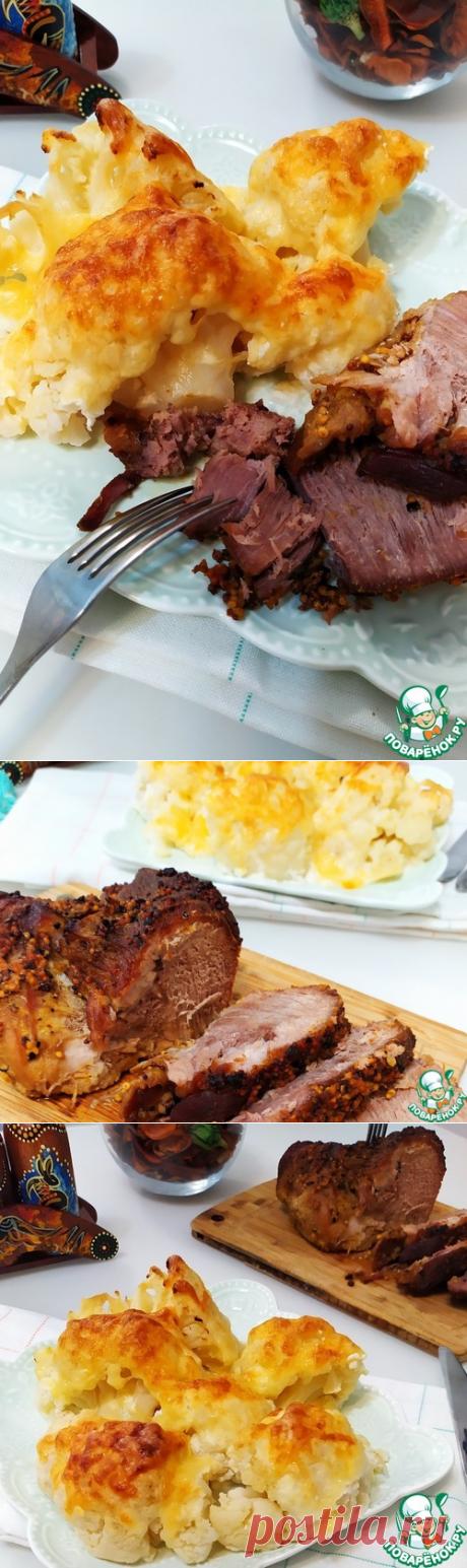 Запеченная свиная шейка с французской горчицей – кулинарный рецепт