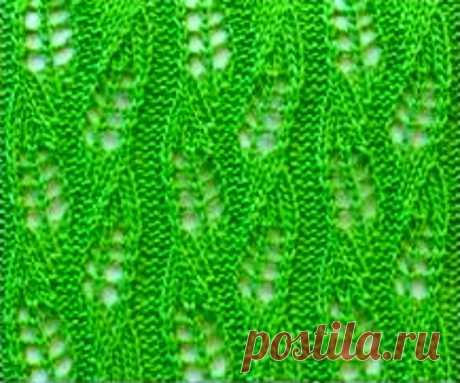 10 простых ажурных узоров спицами, с лёгкими схемами вязания | Paradosik_Handmade | Пульс Mail.ru