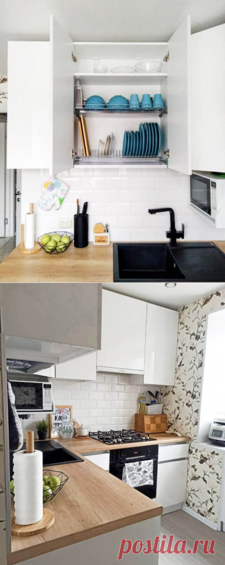 «Все вместилось и даже место осталось!»: История обустройства маленькой кухни в хрущевке за 86 тысяч рублей
