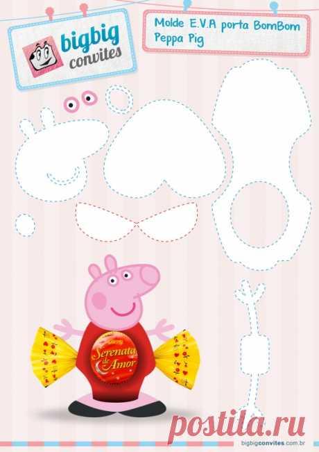 Porta Bombom da Peppa Pig