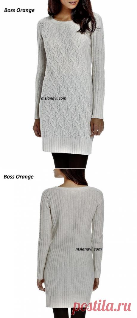Вязаное платье аранами | Вяжем с Лана Ви