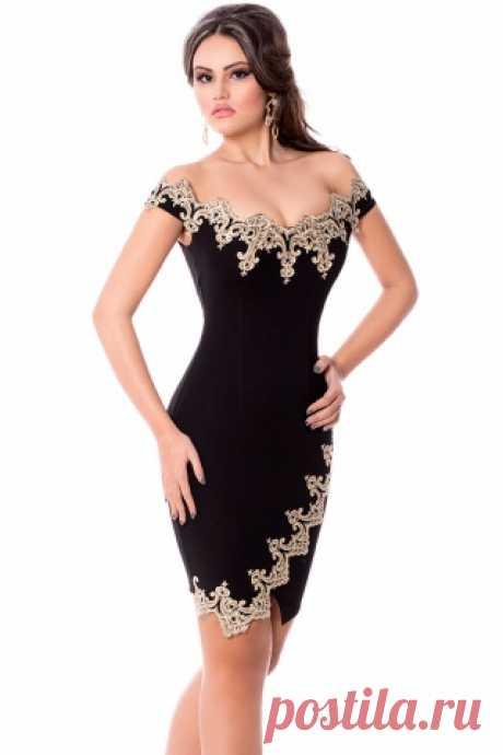 Элегантное платье благородного цвета подчеркнёт Вашу фигуру, а золотые вставки сделают Ваш образ более нарядным и праздничным ♥