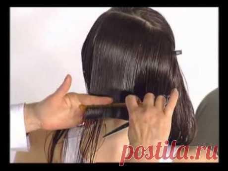 Из длинных волос в градуированное каре. Of long hair in a graded bob