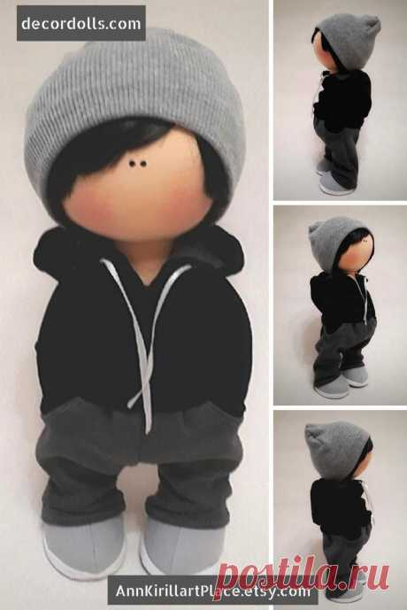 Boy Art Doll Handmade Cloth Doll Nursery Rag Doll Fabric   Etsy