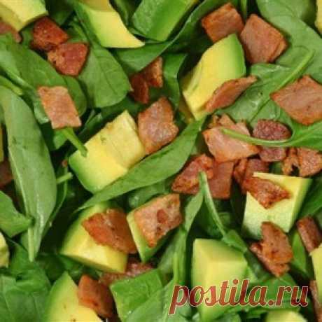 Салат с беконом и авокадо рецепт – салаты