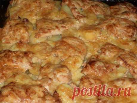 (+1) - Просто , быстро, празднично (куринная грудка и картофель в духовке) | Любимые рецепты