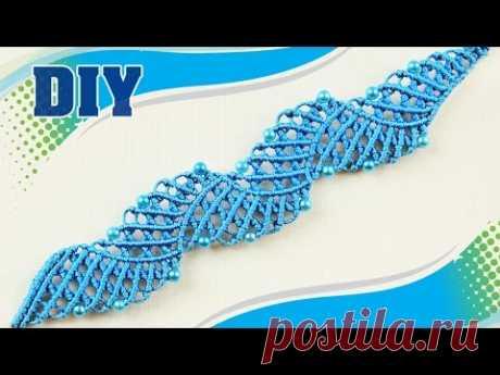 The Blue Lagoon - Macramé Bracelet Tutorial - YouTube Голубая лагуна - Урок по браслету из макраме