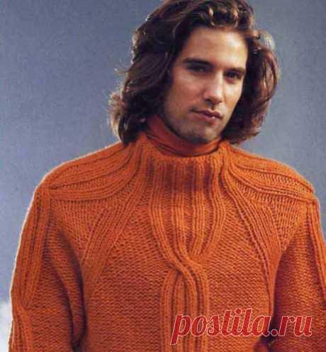 Схема мужского свитера реглан 784