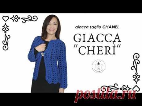 """TUTORIAL: Giacca """"Cherì"""" all'uncinetto 🤍lafatatuttofare🤍"""