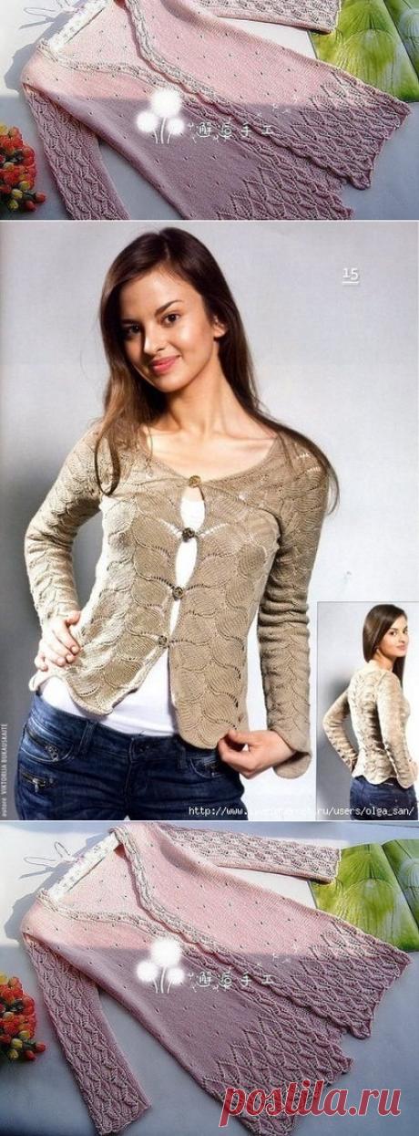 Красивые узоры для кофточек, пуловеров, кардиганов