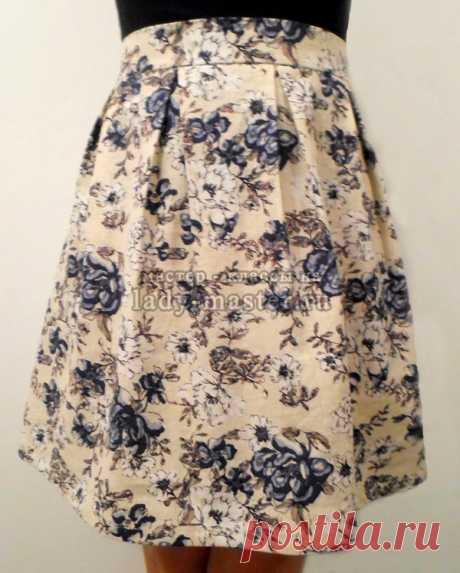 Как сшить юбку со встречными складками, мастер - класс с фото, пошагово