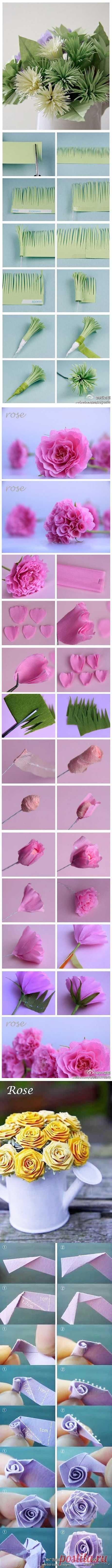 Grosgrain: Учебники бумаги цветы