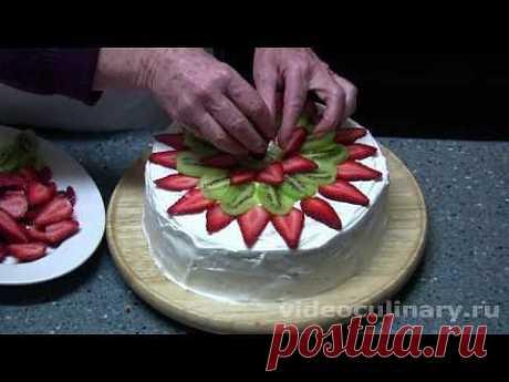 """Торт """"Дамские пальчики"""" - Видеокулинария.рф - видео-рецепты Бабушки Эммы"""