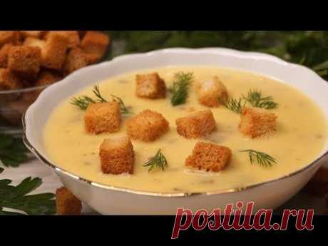 суп пюре грибной с гренками