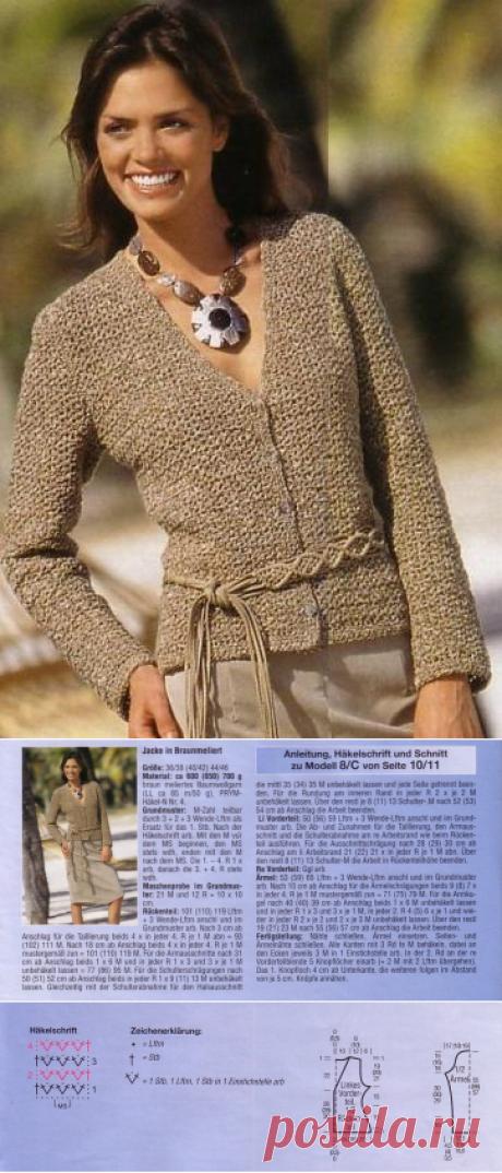 1094 - жакеты, блейзеры, кардиганы - Вязание для женщин - Каталог статей - Md.Crochet