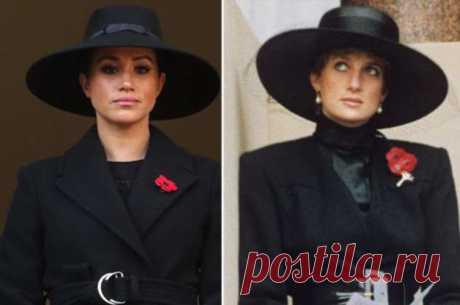 Меган Маркл в оригинальной шляпе повторила легендарный выход принцессы Дианы | Офигенная