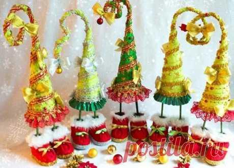 Елка своими руками на Новый год: 100 идей и МК как сделать елочку из подручных материалов Доброго времени суток, друзья! Скоро, скоро Новый год! Он торопится, идет! Постучится в двери к нам: «Дети, здравствуйте, я к